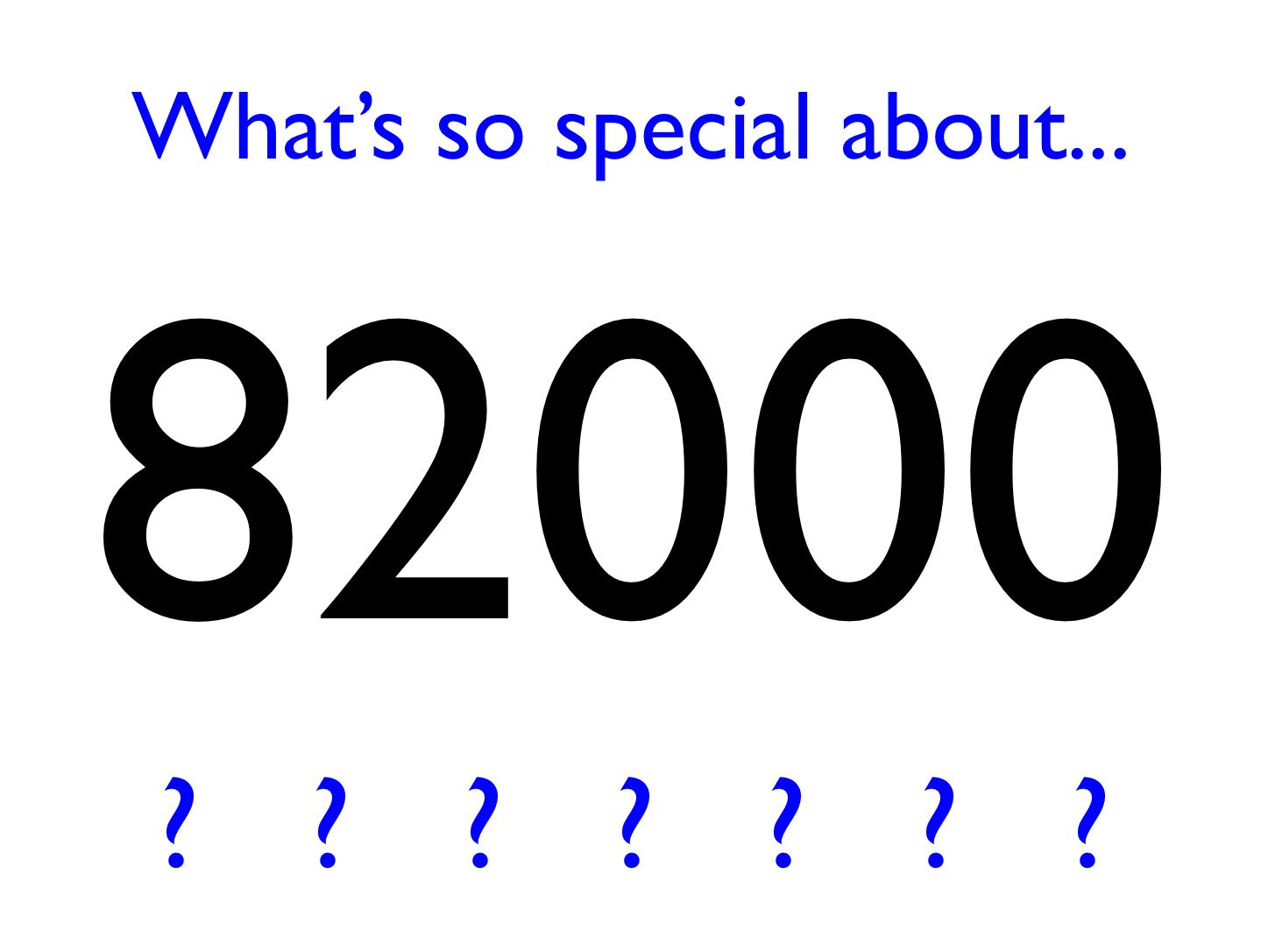 Special 82000